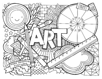 art coloring pages art class coloring page by ashley wright draws tpt coloring pages art