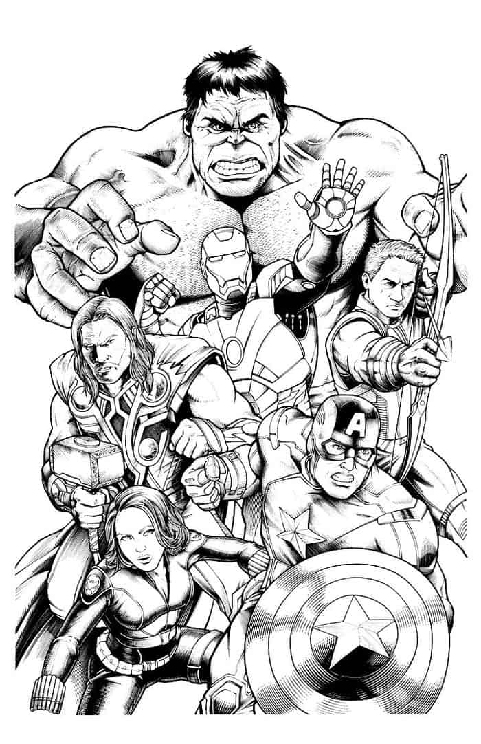 avengers characters coloring pages thrilling adventure of superheroes avengers 20 avengers pages coloring avengers characters