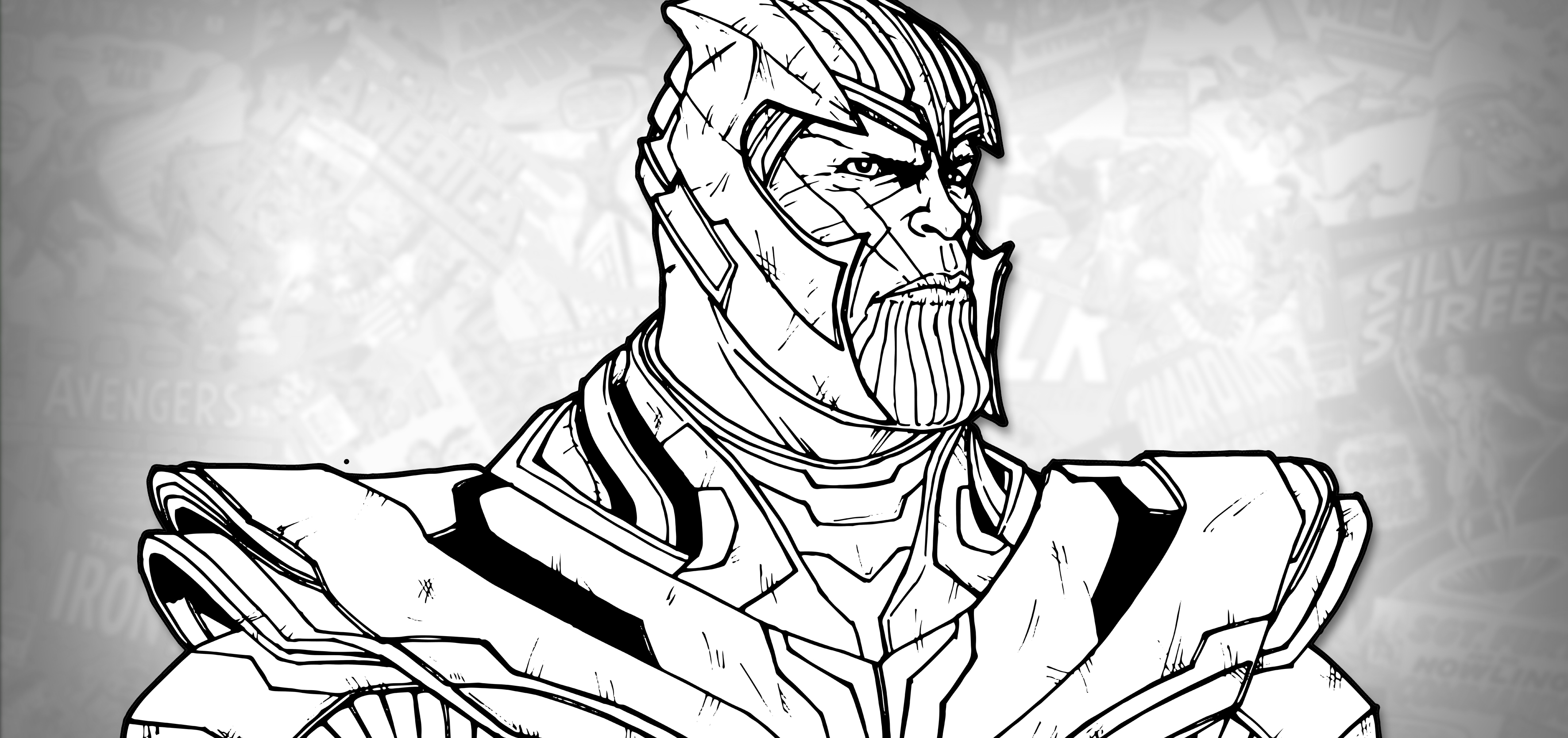 avengers endgame thanos coloring pages how to draw thanos avengers endgame drawing tutorial coloring endgame pages avengers thanos