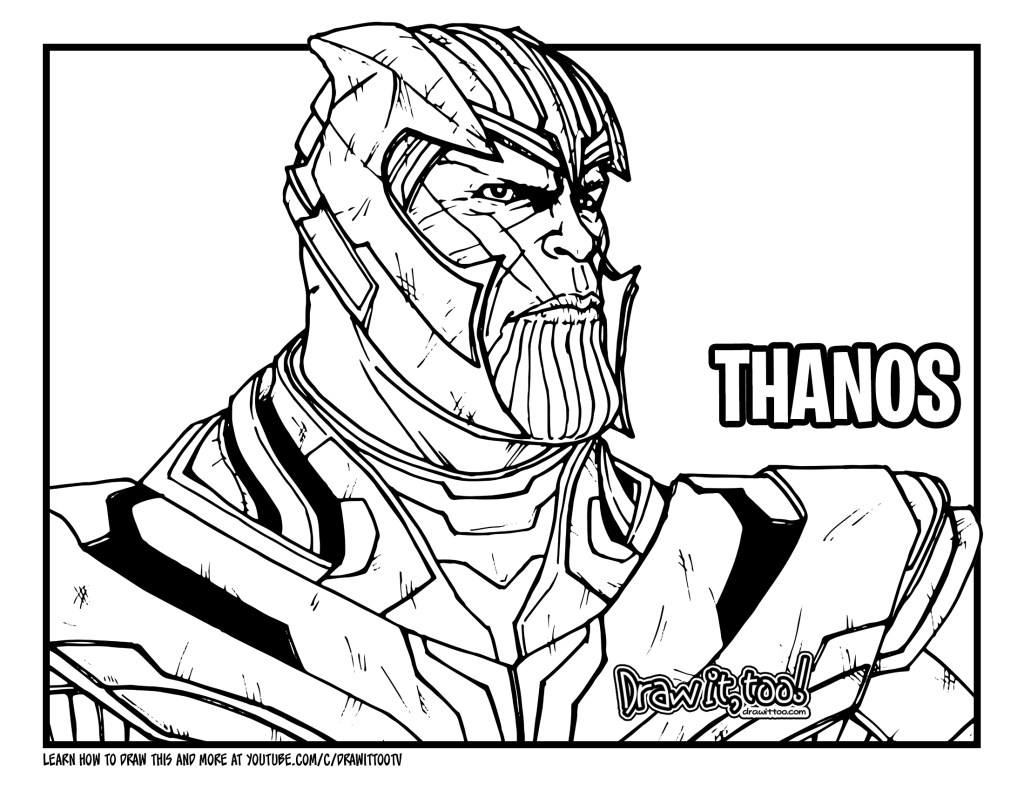 avengers endgame thanos coloring pages thanos avengers endgame skin from fortnite coloring pages pages avengers coloring thanos endgame