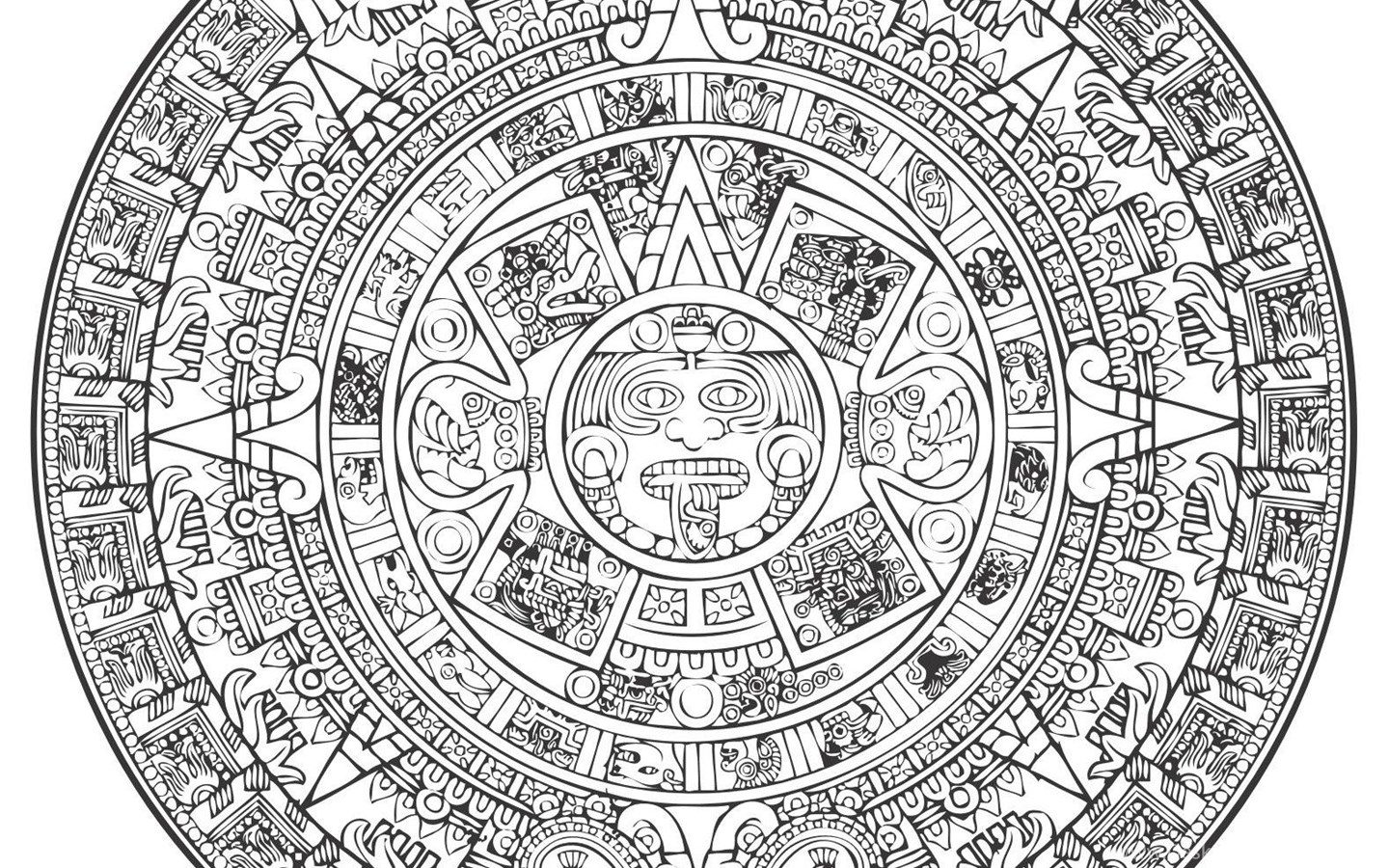 aztec calendar outline aztec calendar reference and pattern page with images outline aztec calendar