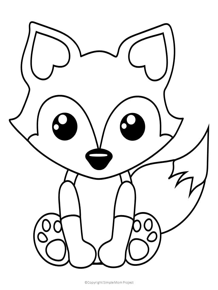 baby animals pictures to color free printable baby fox coloring page fox coloring page color pictures animals to baby