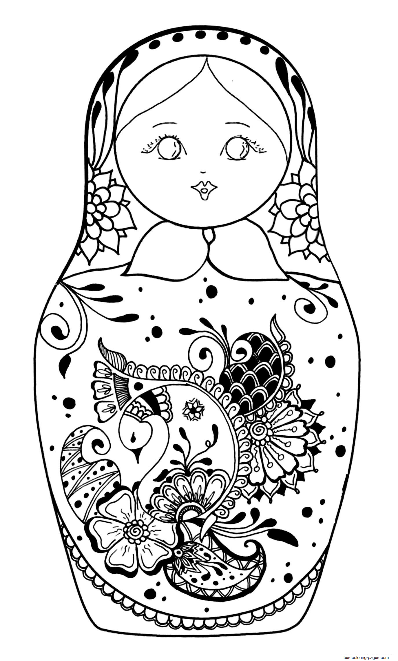 baby doll coloring page baby russian doll coloring pages printable for kids doll baby coloring page