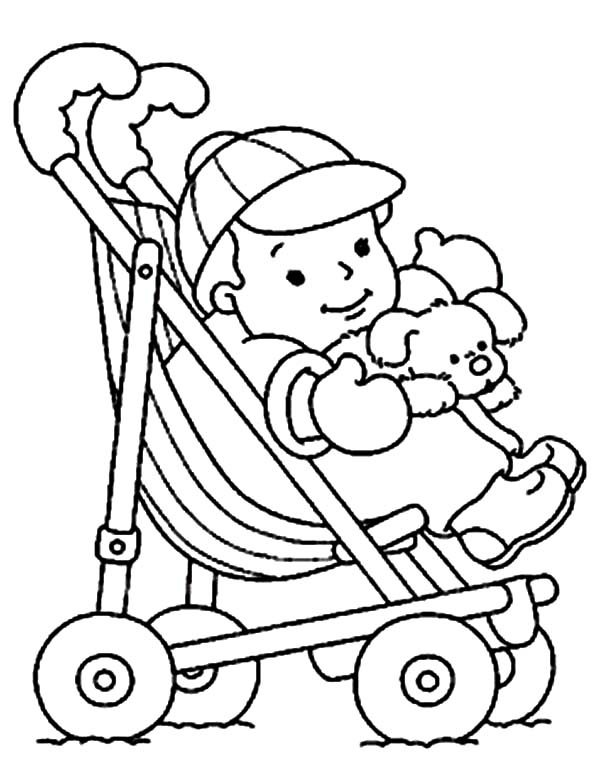 baby doll coloring page stroller coloring pages at getcoloringscom free doll page coloring baby