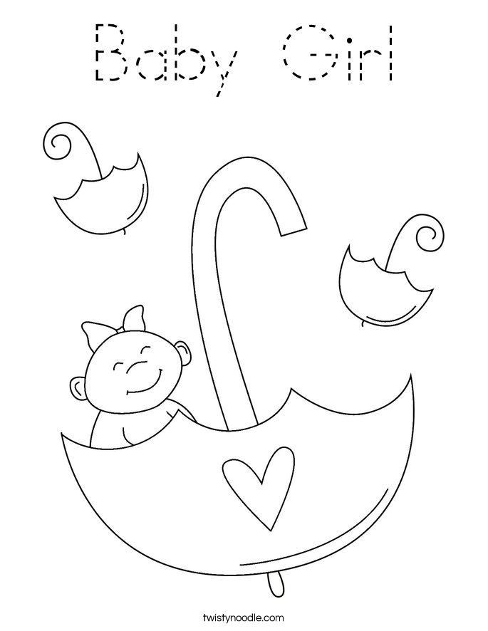 baby for coloring baby girl coloring page tracing twisty noodle for baby coloring