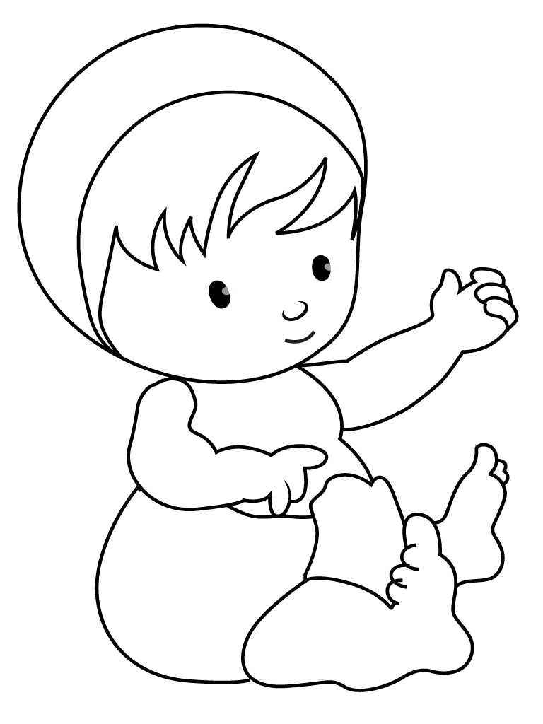 baby for coloring free printable baby coloring pages for kids baby for coloring