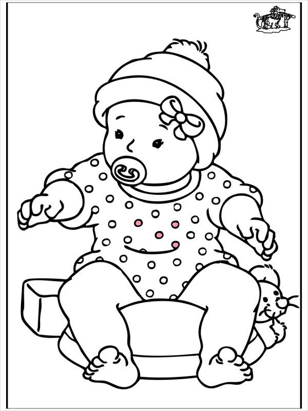 baby for coloring free printable baby coloring pages for kids baby for coloring 1 1