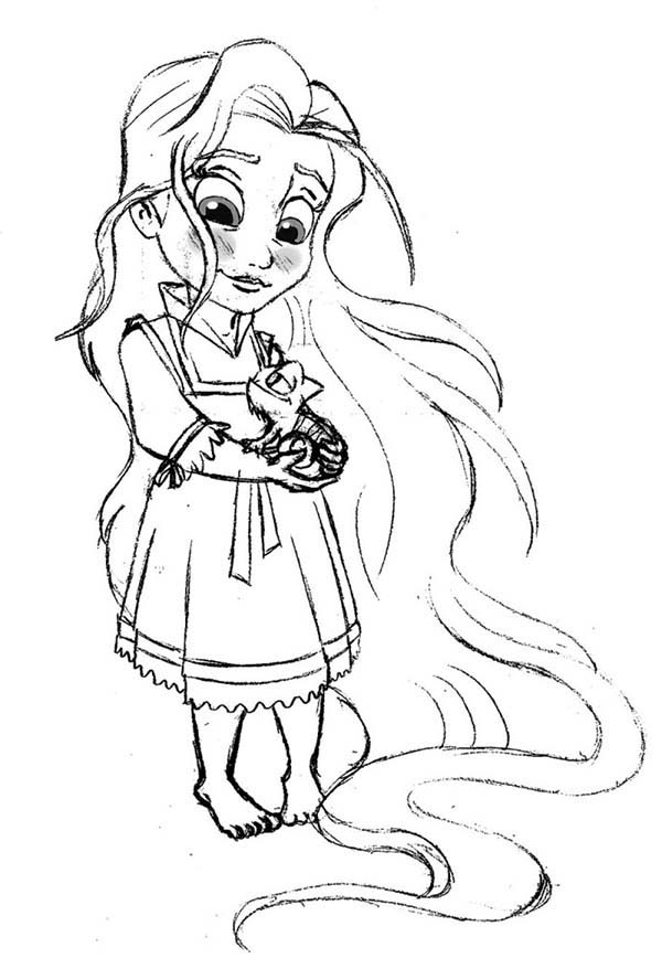 baby rapunzel coloring pages baby rapunzel drawing at getdrawings free download pages coloring baby rapunzel