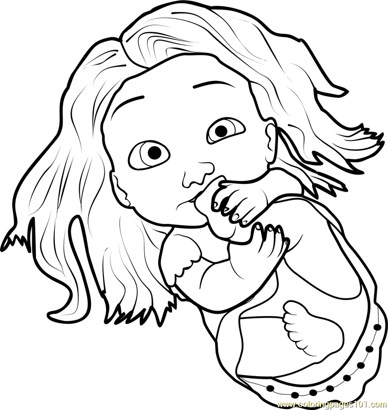 baby rapunzel coloring pages baby rapunzel drawing at getdrawings free download rapunzel baby coloring pages