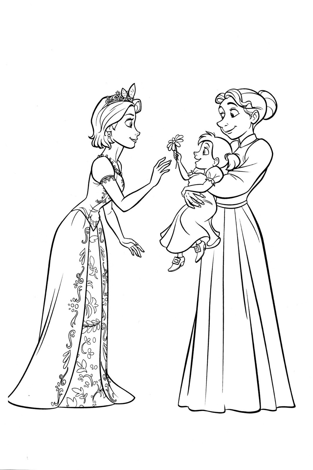 baby rapunzel coloring pages princess coloring pages color online free printable coloring rapunzel pages baby