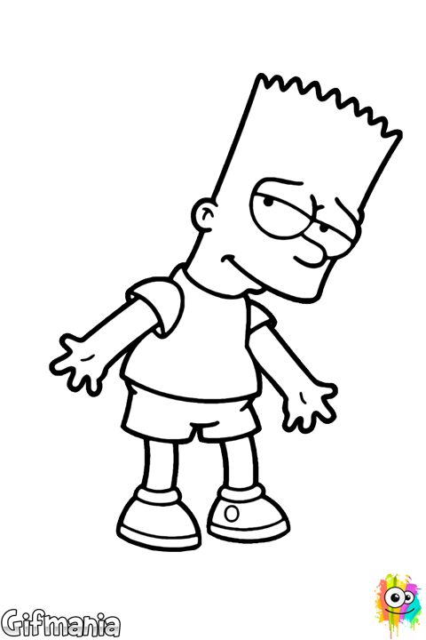 bart simpson coloring bart coloring page simpson bart coloring