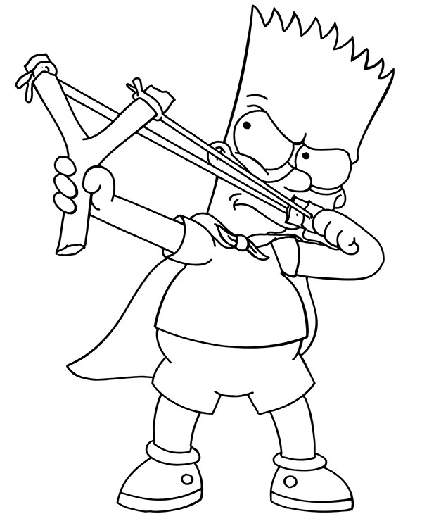bart simpson coloring bart simpson funny printable coloring pages for children simpson bart coloring