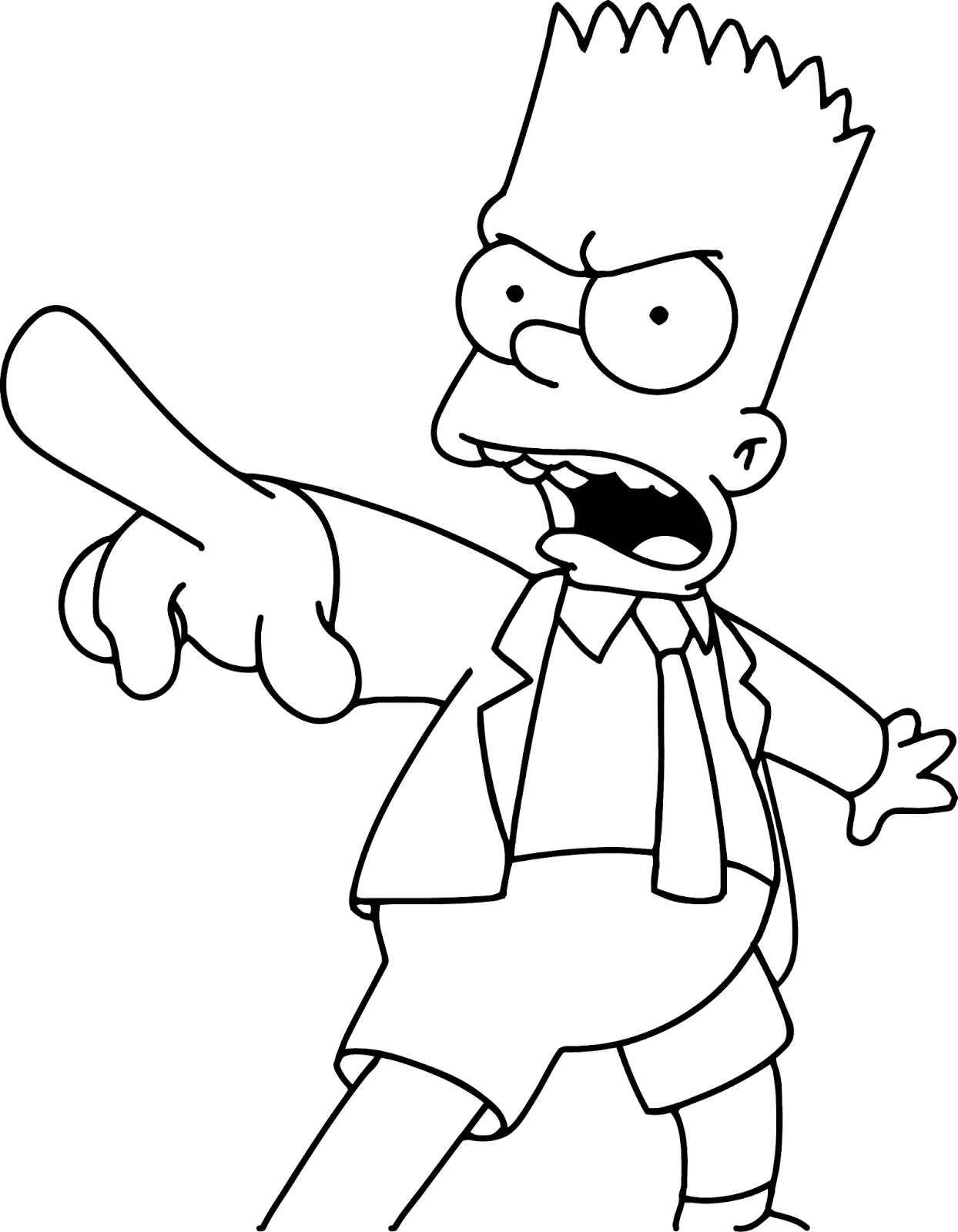 bart simpson coloring bart simpson the simpsons version coloring page coloring bart simpson