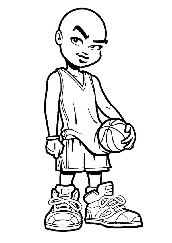basketball player coloring page basketball player drawing at getdrawings free download coloring page player basketball