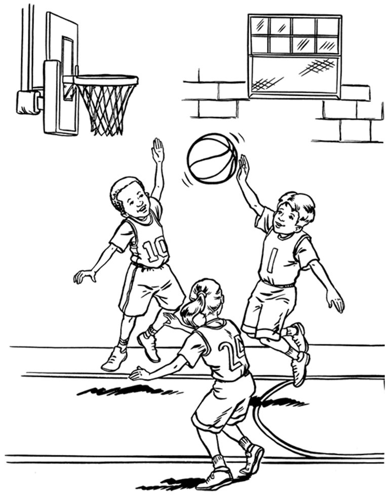 basketball player coloring page coloring activity pages kids playing basketball coloring basketball page player