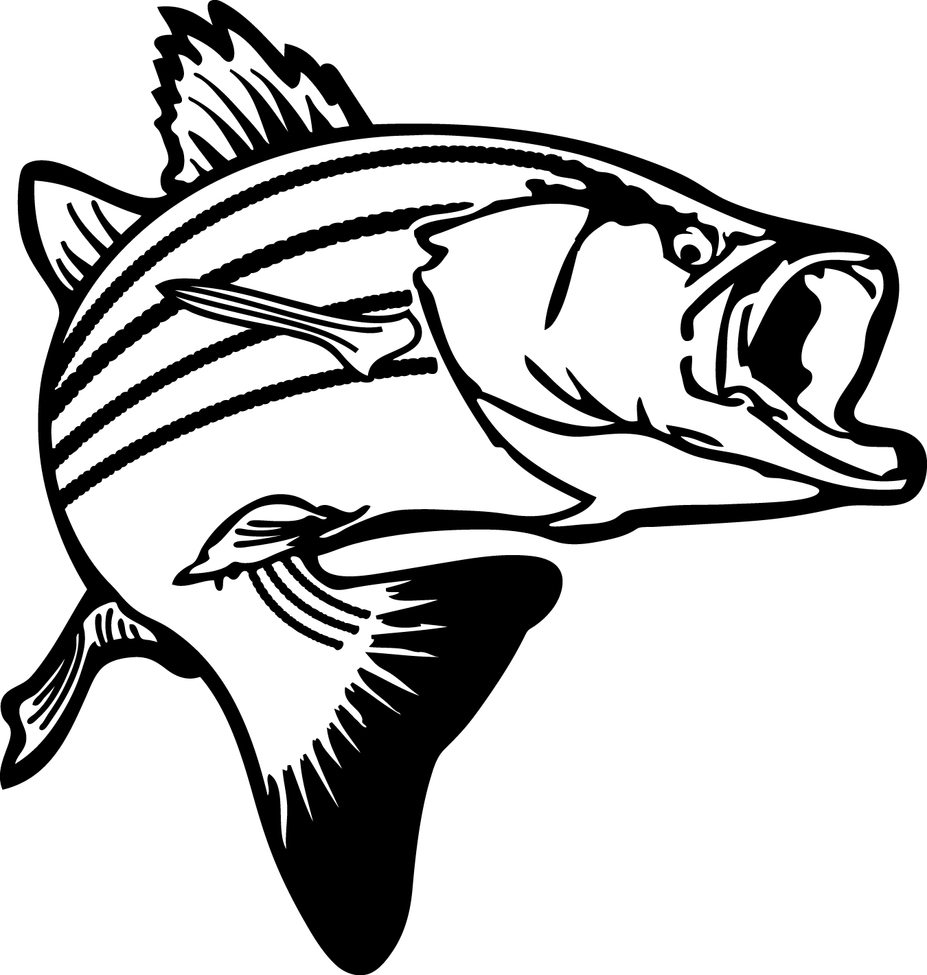 bass outline bass fish outline coloring pages best place to color outline bass