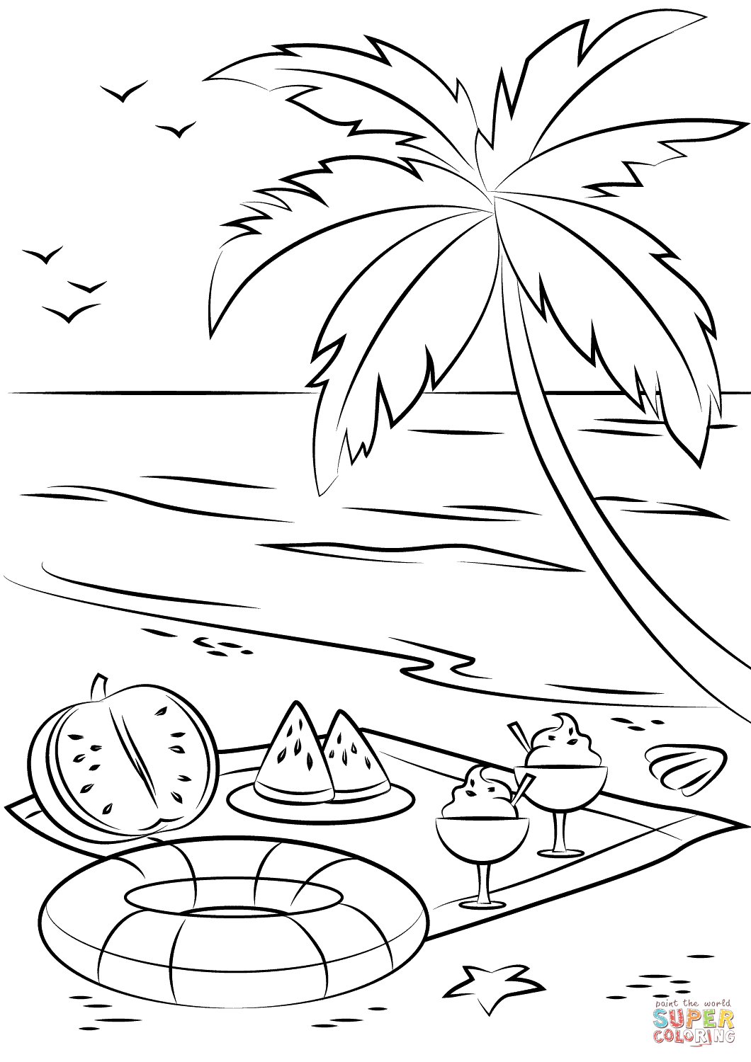 beach colouring page coloring pages beach scenes coloring pages coloring home pages coloring beach colouring page