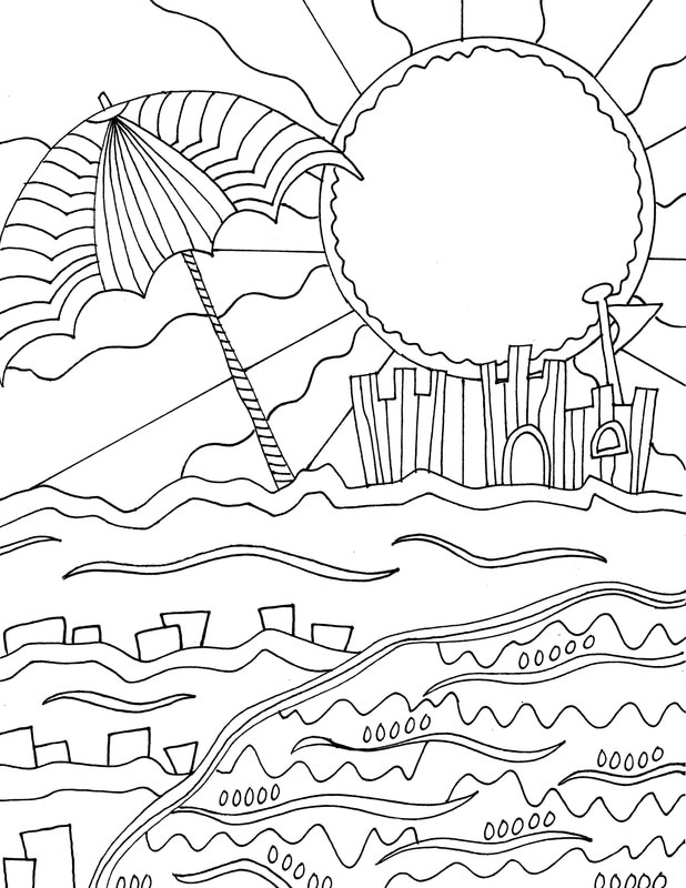 beach colouring page coloring pages beach sun cloud coloring page free holidays coloring beach colouring page pages coloring