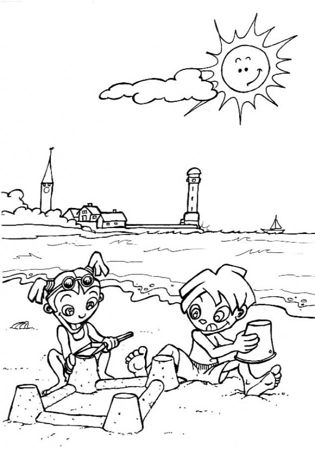 beach colouring page coloring pages day at the beach adult coloring page page pages colouring coloring beach