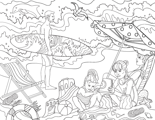 beach colouring page coloring pages free printable beach coloring pages for kids coloring pages colouring page beach