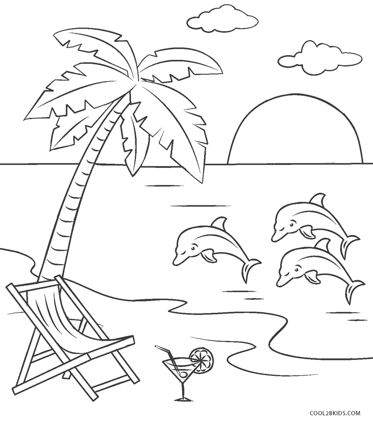 beach scene coloring pages beach coloring pages beach scenes activities scene coloring beach pages