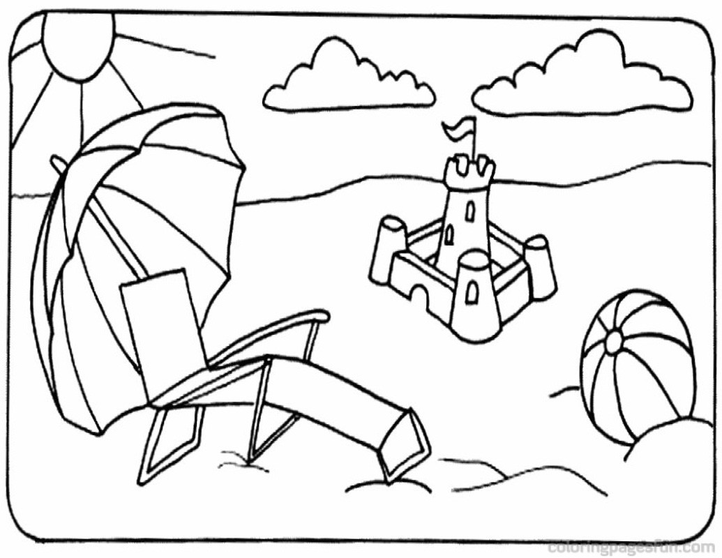 beach scene coloring pages beach scene coloring page free printable coloring pages coloring scene beach pages