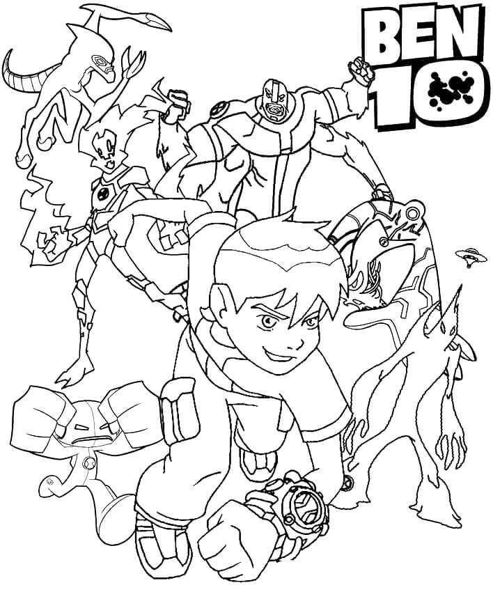 ben 10 coloring sheets ben 10 characters coloring pages sheets 10 coloring ben