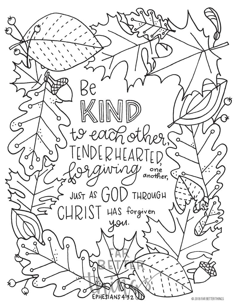 bible coloring pages bible verse coloring page ephesians 432 printable digital bible pages coloring
