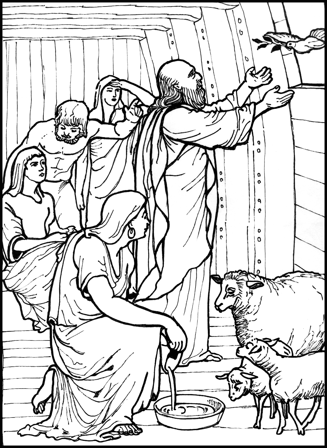 bible coloring pages the dove returns to noah color the bible bible pages coloring