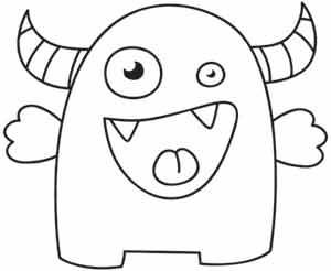 big mouth monster coloring page 71 best images about dieren kleurplaten on pinterest coloring mouth monster big page