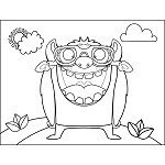 big mouth monster coloring page connie and maury coloring page awesome in 2019 coloring monster page mouth big