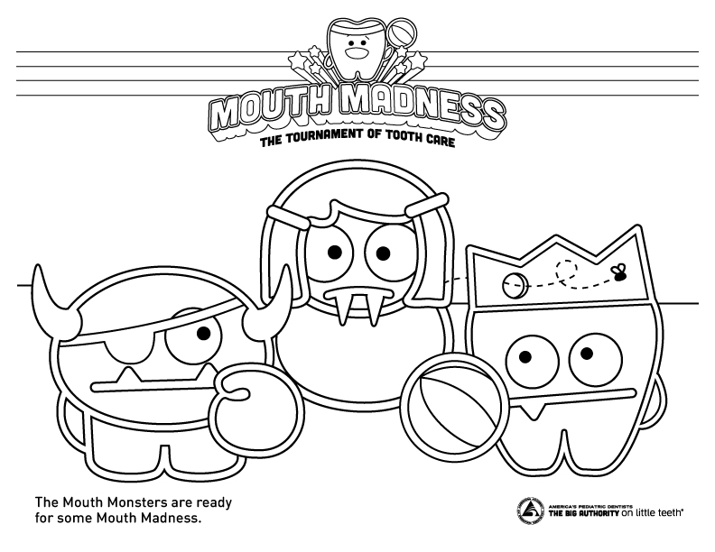 big mouth monster coloring page monster colouring pages big coloring mouth monster page