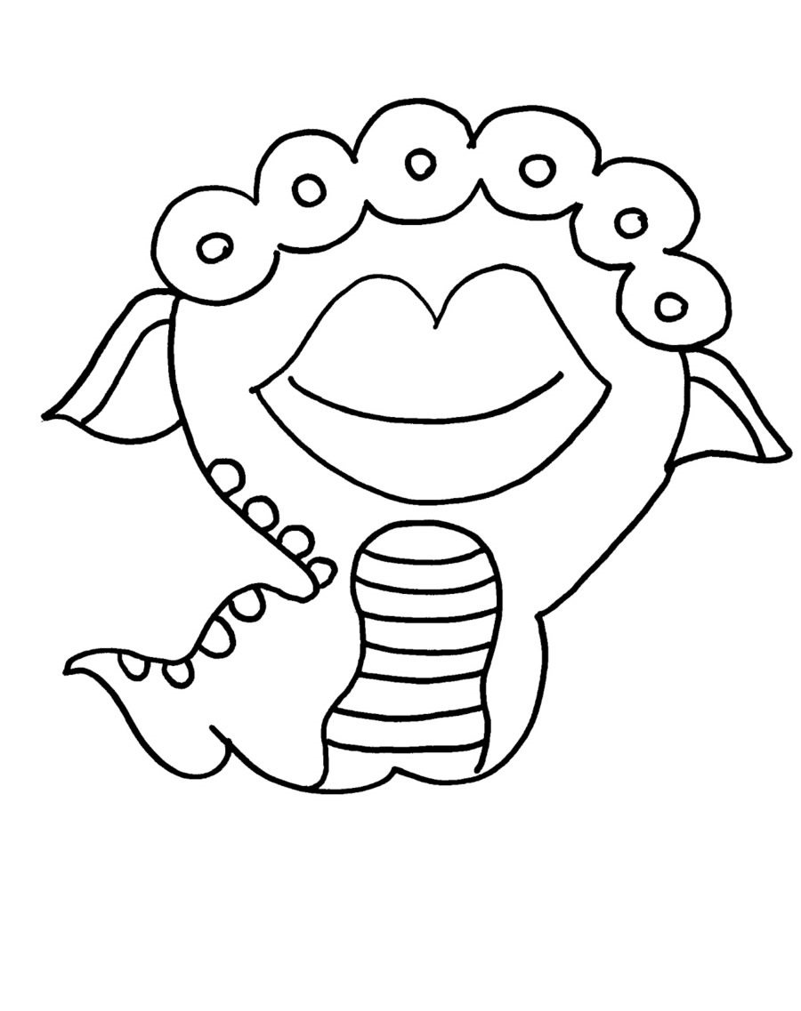 big mouth monster coloring page monsters giants trolls coloring pages printable games mouth monster big coloring page