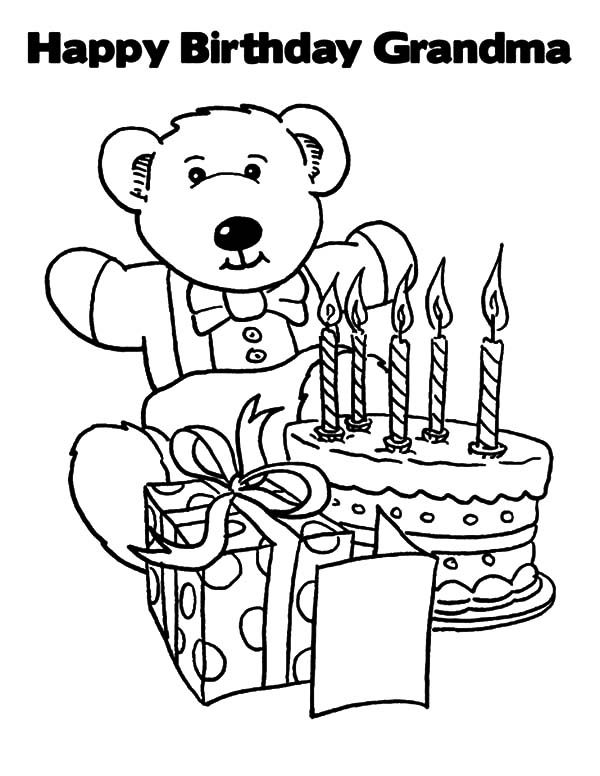 birthday coloring pages for grandma happy birthday grandma coloring card coloring pages grandma for birthday coloring pages