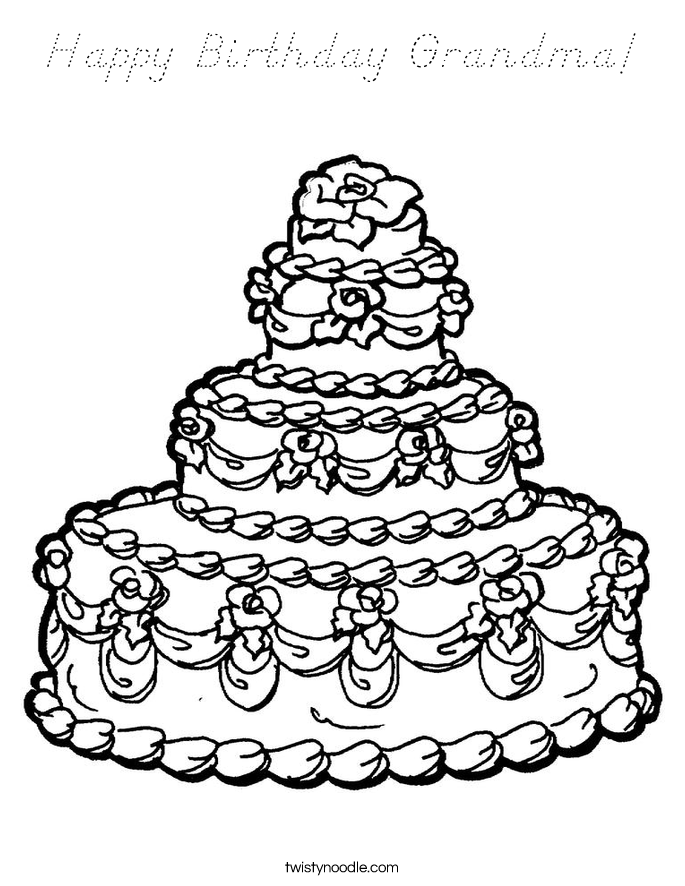 birthday coloring pages for grandma happy birthday grandma coloring pages at getcoloringscom birthday coloring for pages grandma