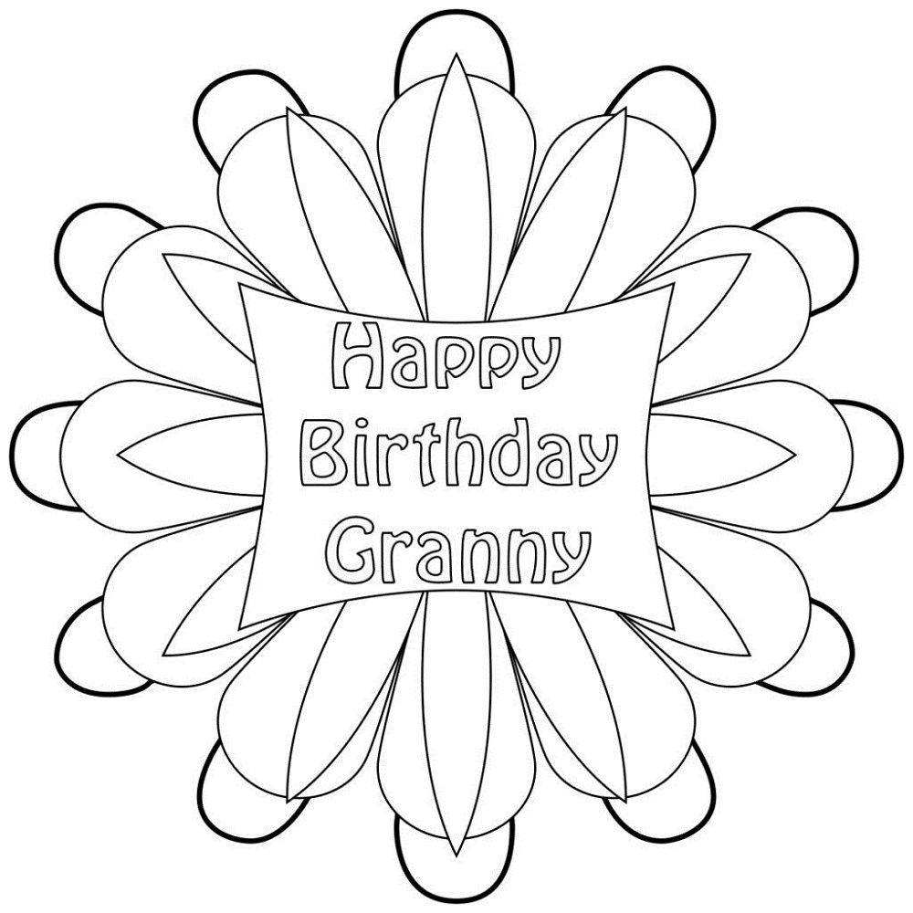 birthday coloring pages for grandma happy birthday grandma coloring pages best place to color for pages birthday grandma coloring