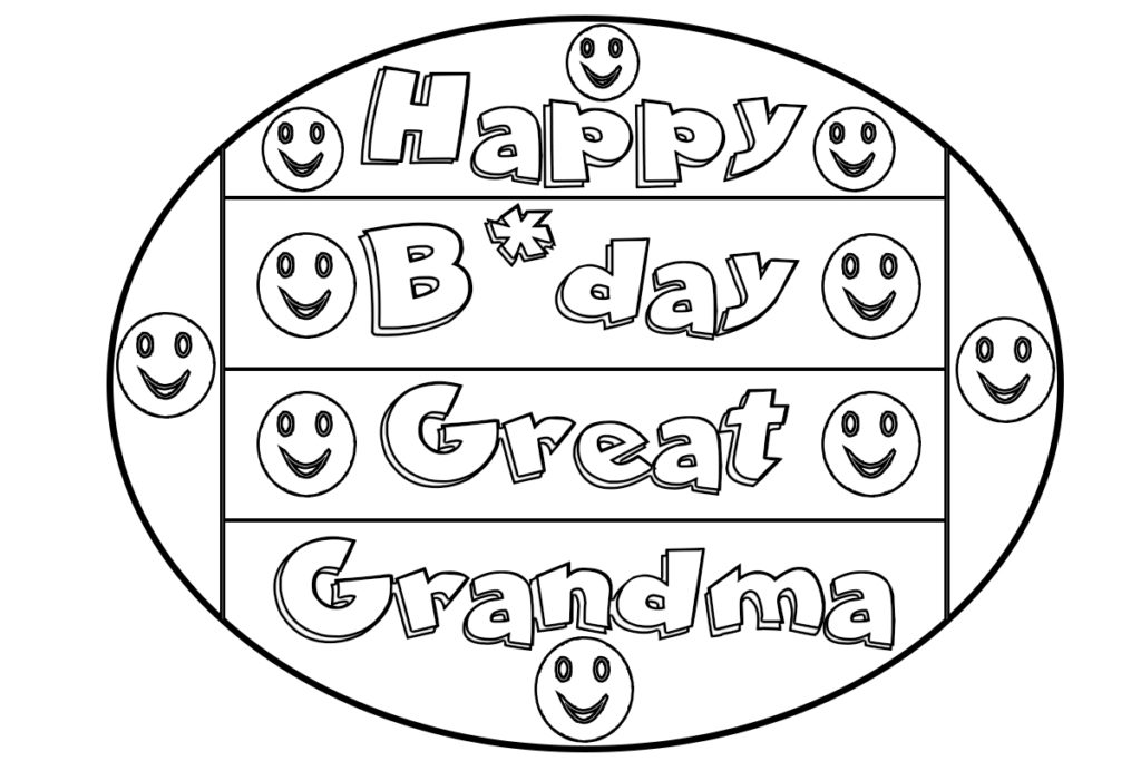 birthday coloring pages for grandma happy birthday grandma coloring pages getcoloringpagescom birthday pages for coloring grandma