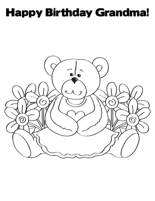 birthday coloring pages for grandma happy birthday grandma coloring pages getcoloringpagescom grandma for birthday coloring pages