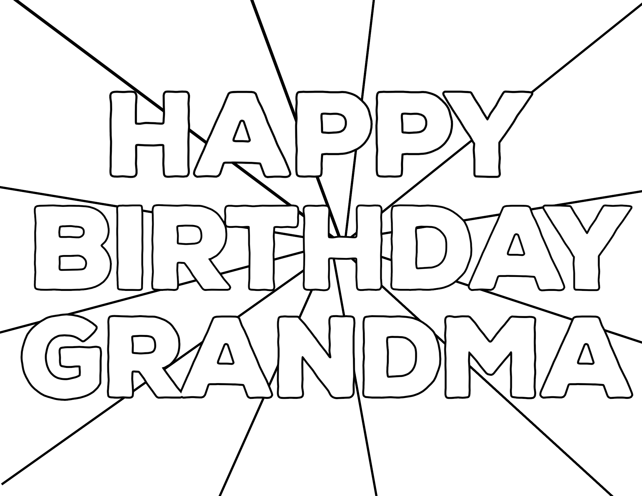birthday coloring pages for grandma happy birthday grandma pages coloring pages for coloring birthday pages grandma