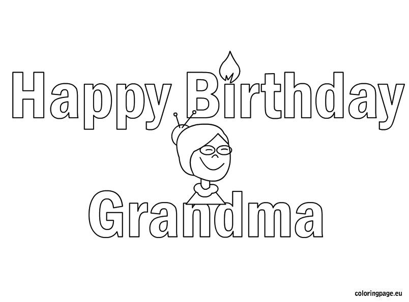 birthday coloring pages for grandma happy birthday grandmother grandma granny coloring pages for pages grandma coloring birthday