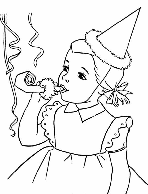 birthday girl coloring pages birthday girl drawing at getdrawings free download birthday pages coloring girl