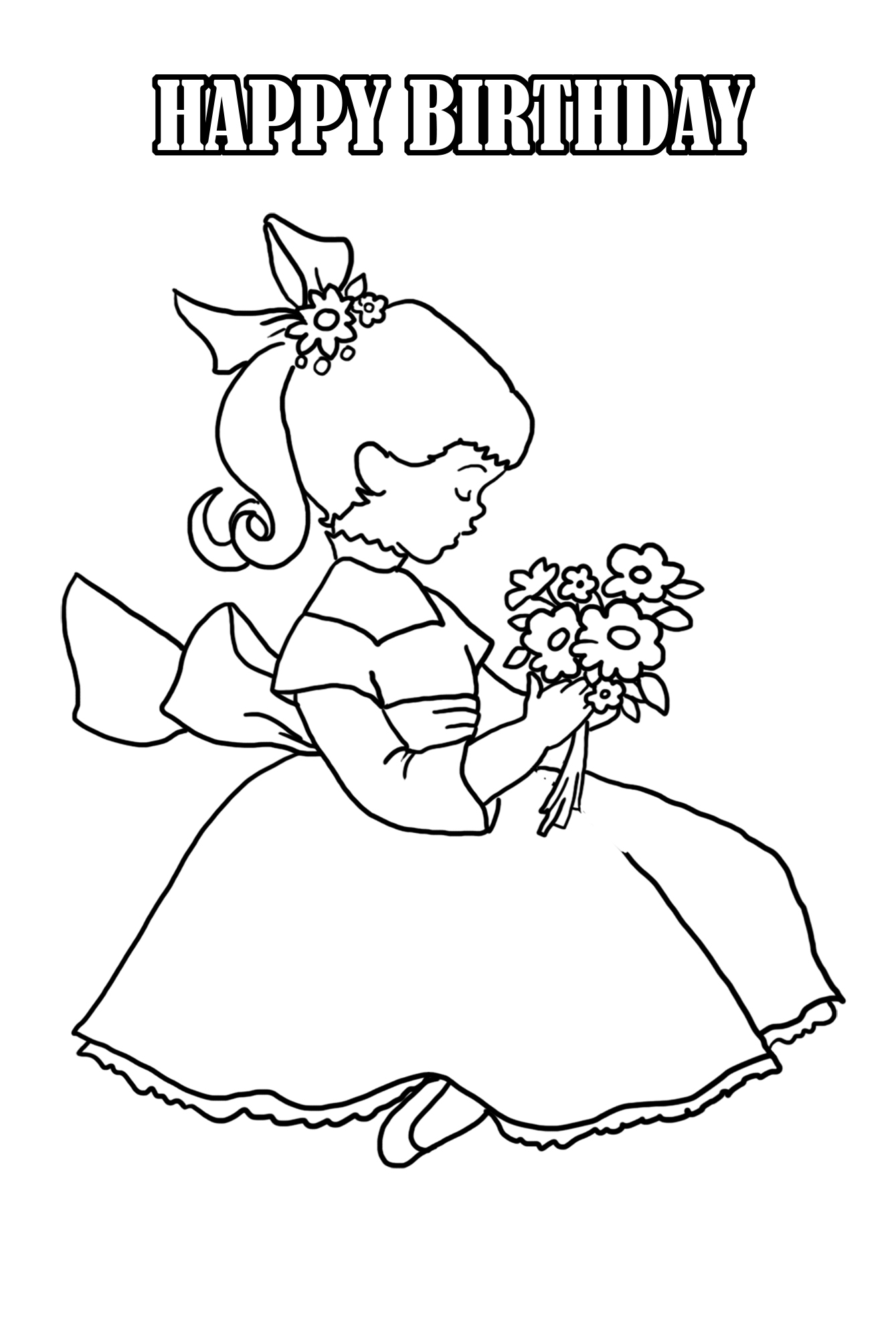 birthday girl coloring pages birthday party netart coloring birthday pages girl