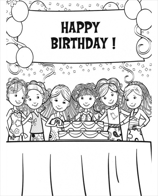 birthday girl coloring pages bonggamom finds american girl magazine special birthday girl birthday pages coloring