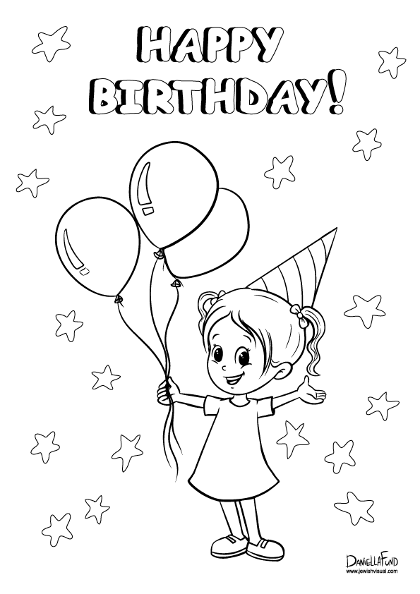 birthday girl coloring pages girl birthday coloring pages for kids gtgt disney coloring pages birthday pages girl coloring