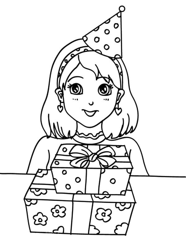 birthday girl coloring pages girl birthday coloring pages for kids gtgt disney coloring pages pages coloring birthday girl