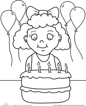 birthday girl coloring pages happy birthday coloring pages for girls girl pages birthday coloring