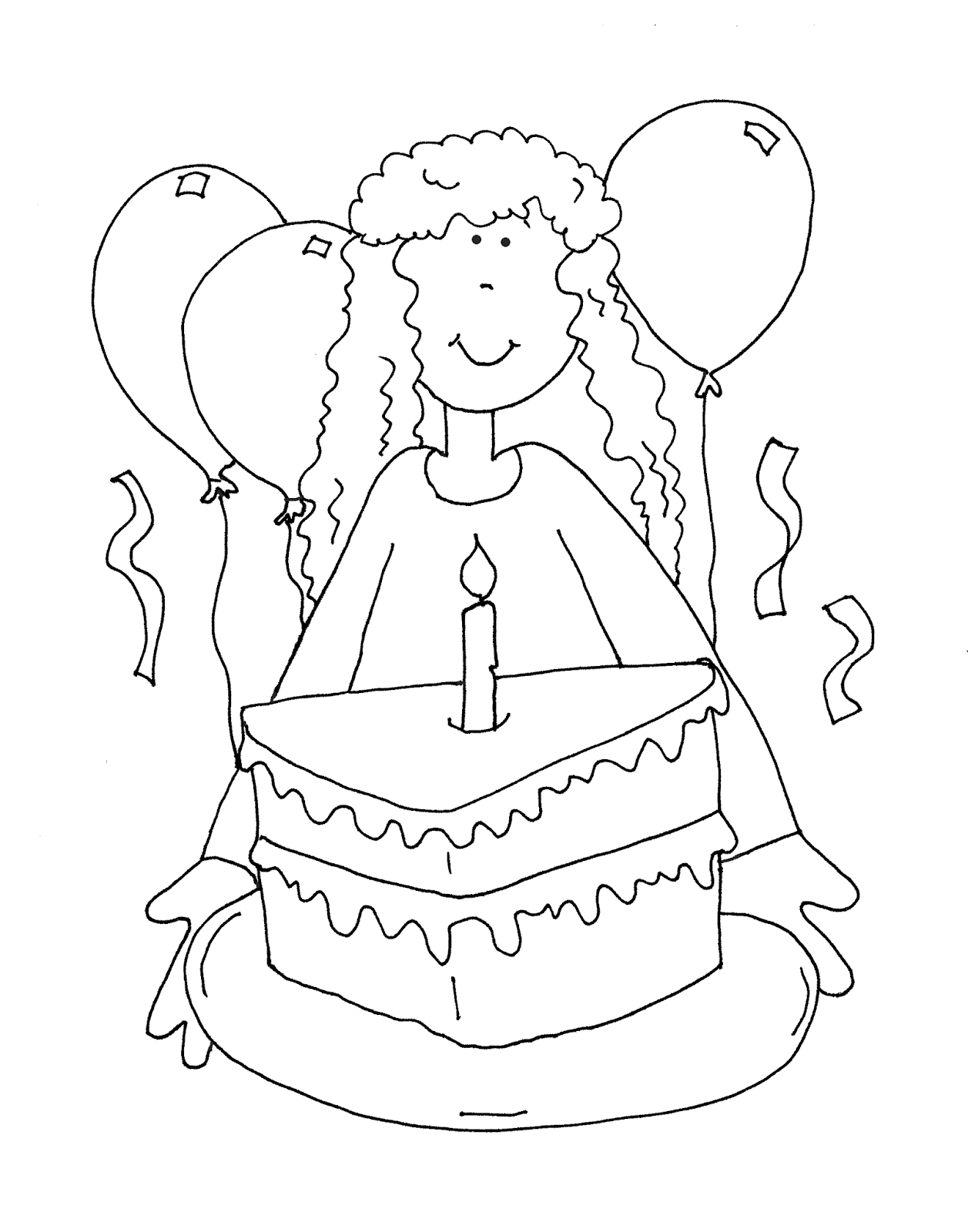 birthday girl coloring pages happy birthday girl coloring page for kids holiday birthday coloring pages girl