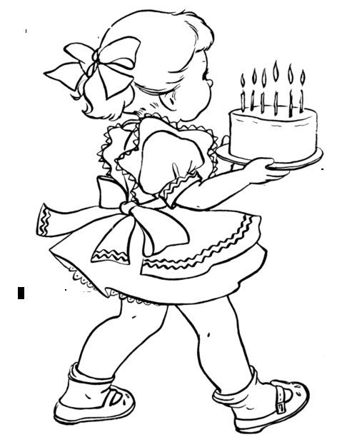 birthday girl coloring pages superstar birthday girl printable sentiment for handmade coloring girl birthday pages