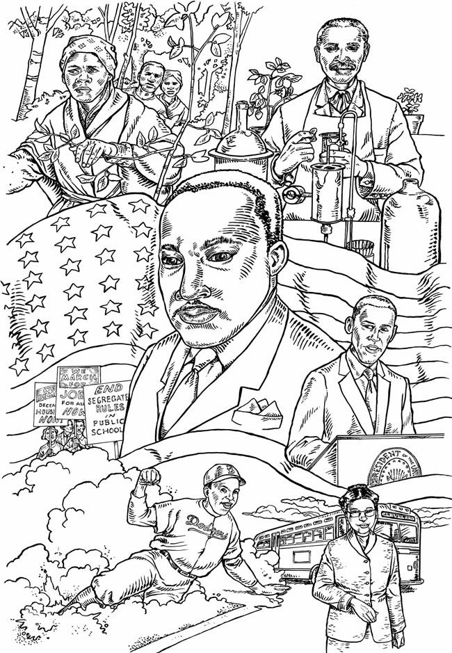 black history coloring sheets welcome to dover publications great african americans coloring sheets history black