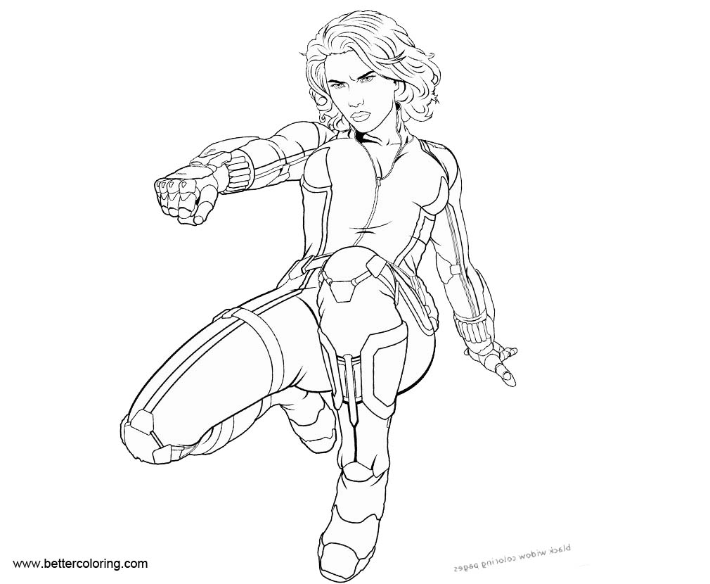 black widow marvel coloring pages black widow from marvel coloring pages free printable widow pages black marvel coloring